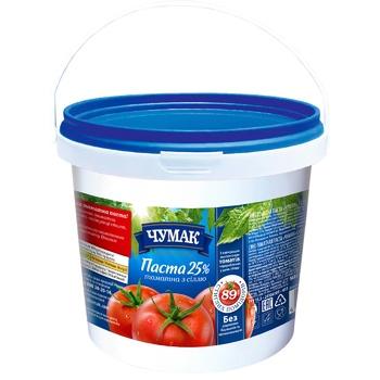 Паста томатная Чумак 25% 1кг - купить, цены на Ашан - фото 1