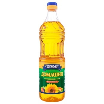 Chumak Homemade Unrefined Sunflower Oil 900ml - buy, prices for Auchan - photo 1