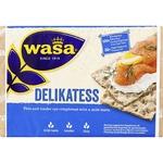 Хлебцы Wasa Delikatess ржаные бездрожжевые 270г