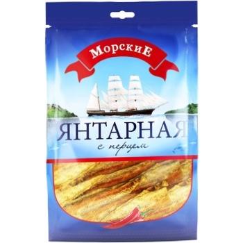 Филе путассу Морские Янтарная с перцем сушеное соленое 36г - купить, цены на Фуршет - фото 1