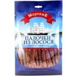 Палочки из лосося Морские солено-сушеные 36г