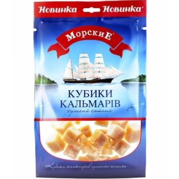 Кальмар Морские кубики солено-сушеные  36г - купить, цены на Фуршет - фото 1
