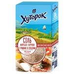 Соль Хуторок морская пищевая с специями и травами 200г
