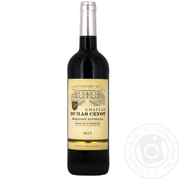 Chateau Dumas Cenot Dry Red Wine 12% 750ml - buy, prices for CityMarket - photo 1