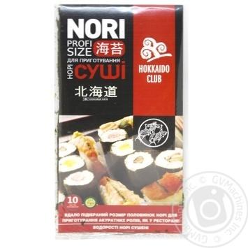 Водоросли Hokkaido Сlub нори сушеные 10шт - купить, цены на МегаМаркет - фото 1