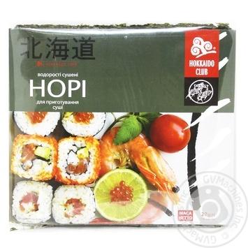 Водоросль HokkaidoClub Нори для приготовления суши 10 листов - купить, цены на МегаМаркет - фото 1