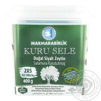 Маслини чорні в'ялені KURU SELE 2XS MARMARABIRLIK 400г - купить, цены на Novus - фото 1