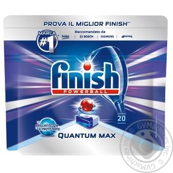 Таблетки для посудомоечных машин Finish Quantum Ultimate 20шт. - купить, цены на Novus - фото 2