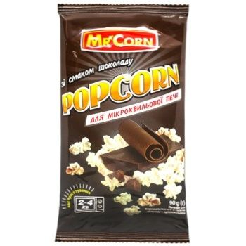 Попкорн Mr'Corn зі смак.шоколаду д/мхп 90г - купити, ціни на CітіМаркет - фото 1