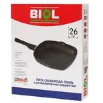 Сковорода Biol гриль з антипригарним покриттям з'ємна ручка 26х26см