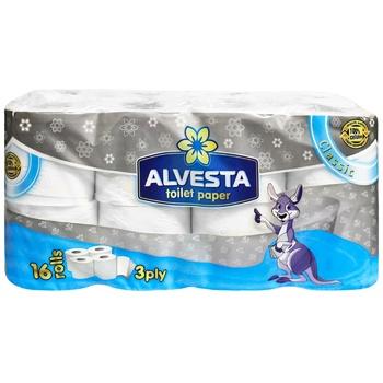 Туалетная бумага Alvesta Classic трехслойная 16рул