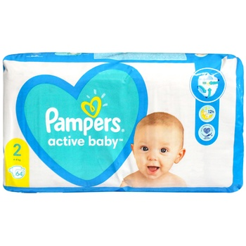 Diaper Pampers Active baby for children 4-8kg 64pcs - buy, prices for CityMarket - photo 1