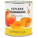 Персики Ophellia половинками в легком сиропе консервированные 850мл