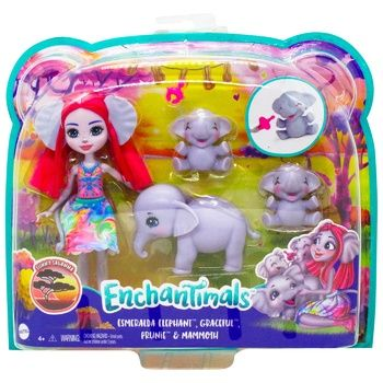 Ігровий набір Enchantimals Родина слоненя Есмеральди
