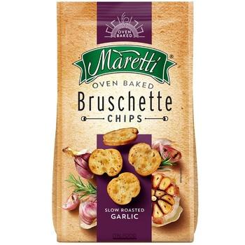 Хлебные брускеты Maretti запеченные со вкусом жаренного чеснока 70г