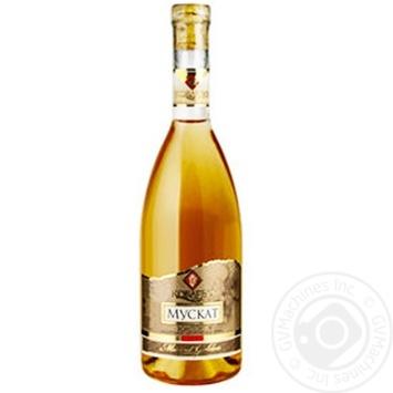 Вино Koblevo Muscat полусладкое белое 9-12%  1л - купить, цены на СитиМаркет - фото 1