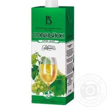 Вино Винлюкс Совиньон белое сухое 1л