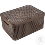 Сurver Style Basket With Lid
