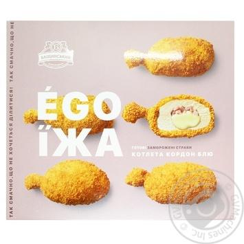 Котлета кордон блю Бащинский Ego Їжа с ветчиной и моцареллой 400г - купить, цены на Восторг - фото 1