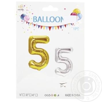Hai Bin Foil Balloon Figure 5 35cm assortment