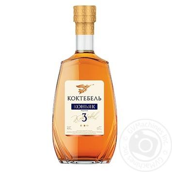 Koktebel Exclusive 3* Cognac 40% 0.5l - buy, prices for CityMarket - photo 1
