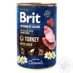 Влажный корм для щенков и молодых собак Brit Premium By Nature Turkey with Liver индейка 800г