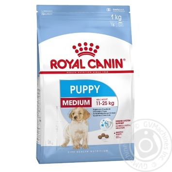 Корм сухой Royal Canin Medium Puppy для щенков средних пород 2-12мес 1кг