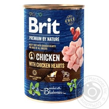 Влажный корм для собак Brit Premium By Nature Chicken with Hearts курица 800г