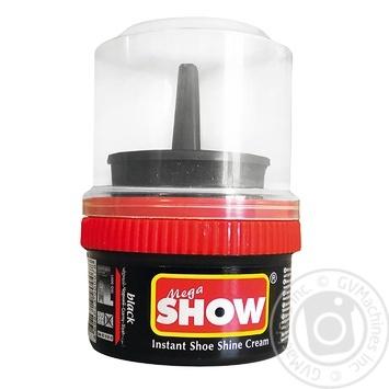 Крем-блеск черный Show для обуви 50мл