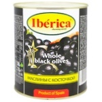 Оливки Iberica чорні з кісточками 3100мл