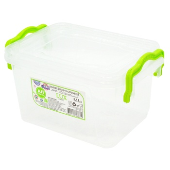 Lux №2 Food container with lid 162X112X93мм 0,8l - buy, prices for Metro - photo 1