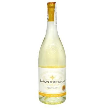 Вино Baron d`Arignac белое полусладкое 10.5% 750мл