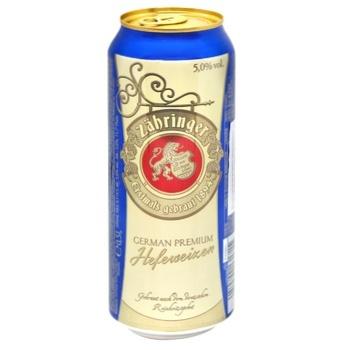 Пиво Zahringer Hefeweizen світле 0,5л