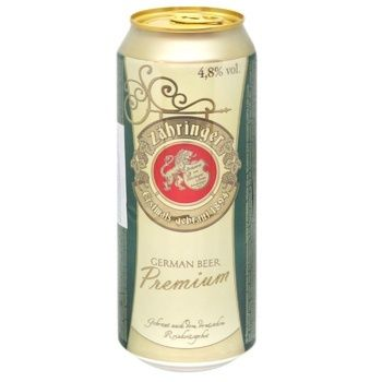 Пиво Zahringer Премиум светлое 0,5л