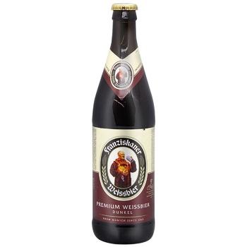 Пиво Franziskaner Hefe Dunkel темное 0,5л