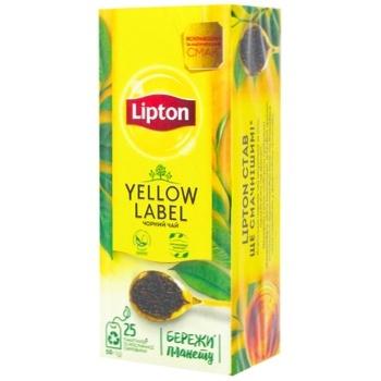 Чай черный Lipton Yellow Label байховый 25шт*2г - купить, цены на СитиМаркет - фото 1