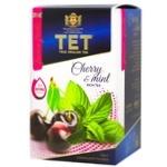 Чай зеленый ТЕТ с вишней и мятой 20шт*2г - купить, цены на СитиМаркет - фото 1