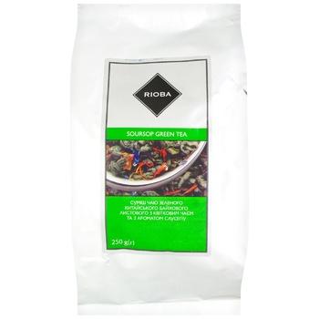 Чай Rioba Саусеп зеленый листовой с цветочным чаем с ароматом саусепа 250г