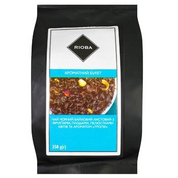 Чай Rioba Ароматный Букет черный байховый листовой с фруктами, плодами, лепестками и ароматом Тропик 250г