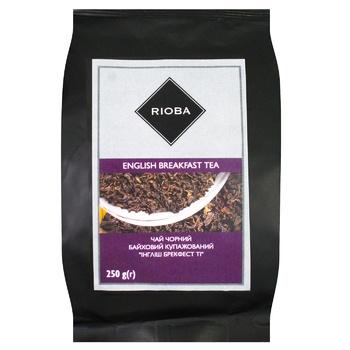 Чая черный Rioba Инглиш брекфест ти байховый купажированный 250г