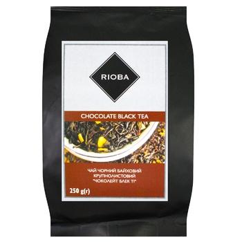 Чай Rioba черный цейлонский байховый среднелистовой с ароматом шоколада 250г