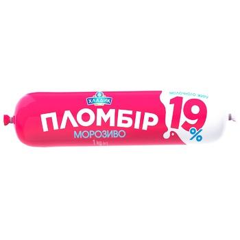 Мороженное Хладик Пломбир 19 пломбир 19% 1кг