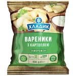 Вареники Хладик С картофелем замороженные 600г