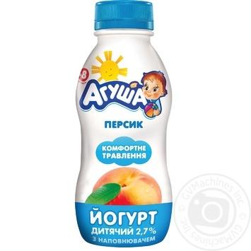 Йогурт Агуша персик для дітей з 8 місяців 2.7% 200г - купити, ціни на Novus - фото 1