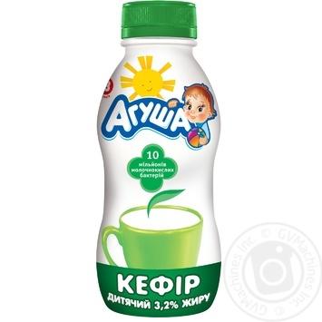 Кефир Агуша для детей с 8 месяцев 3.2% 200г - купить, цены на МегаМаркет - фото 1