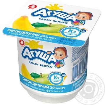 Творожок Агуша яблоко-банан для детей с 8 месяцев 3.9% 100г - купить, цены на Таврия В - фото 1
