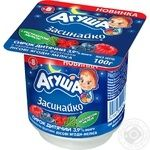 Agusha Zasynayko For Children From 8 Months With Berries And Melissa Cottage Cheese 3.9% 100g - buy, prices for Novus - image 1