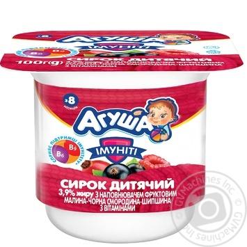 Сырок детский Агуша Иммунит малина-черная смородина-шиповник 3,9% 100г - купить, цены на Фуршет - фото 2