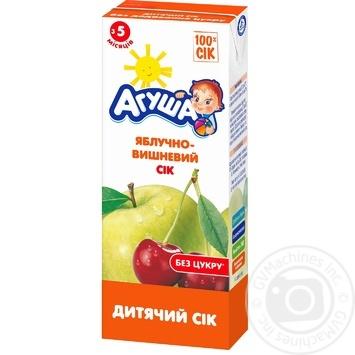 Сок Агуша яблочно-вишневый для детей с 5 месяцев 200мл - купить, цены на Фуршет - фото 1