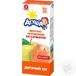 Agusha For Children From 5 Months Apple And Peach Juice 200ml - buy, prices for Furshet - image 1